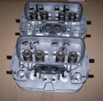 A Pair of Cylinder heads VW 1600cc air cooled Twin port up to 1979 complete